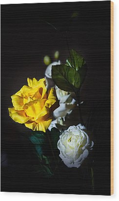Wood Print featuring the photograph Yellow And White by Cecil Fuselier
