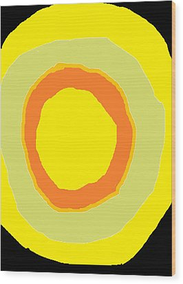 Wood Print featuring the painting Yellow by Anita Dale Livaditis