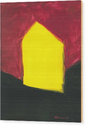 Yellow Arthouse Wood Print