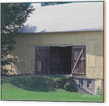Wood Print featuring the photograph Yellow Barn by Gena Weiser