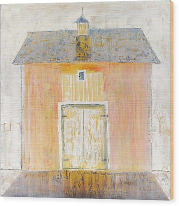 Yellow Barn Wood Print