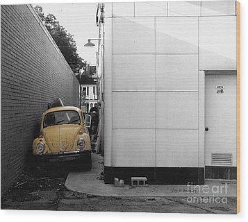 Yellow Bug Wood Print by   Joe Beasley
