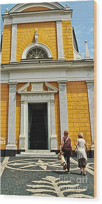 Wood Print featuring the photograph Yellow Church by Allen Beatty