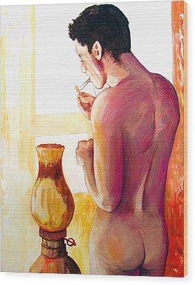 Yellow Cigarette  Wood Print