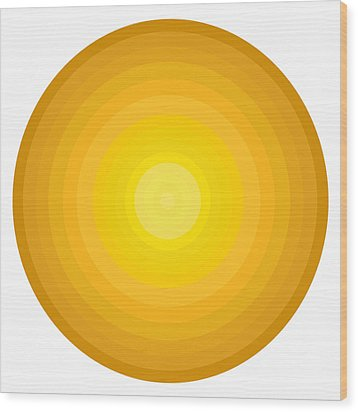 Yellow Circles Wood Print by Frank Tschakert