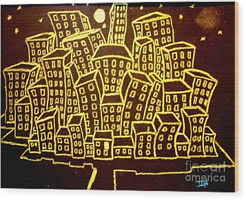 Yellow City Or City Of Gold Wood Print by Joseph Hawkins