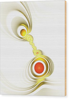 Yellow Connection Wood Print by Anastasiya Malakhova