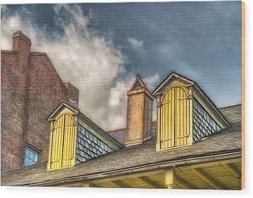 Yellow Dormers Wood Print by Brenda Bryant