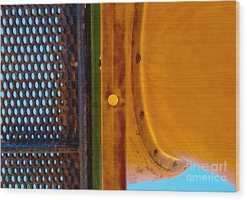 Wood Print featuring the photograph Yellow Dot by Lena Wilhite