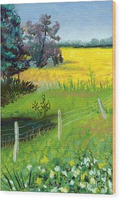 Yellow Field Wood Print by Tanya Provines