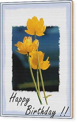 Yellow Flower 2 Wood Print