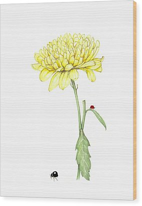 Wood Print featuring the painting Yellow Fun by Heidi Kriel