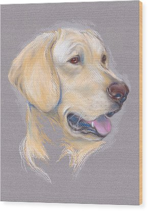 Yellow Labrador Retriever Portrait Wood Print