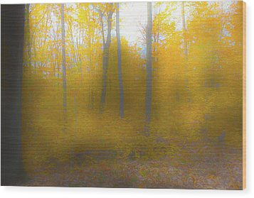 Yellow Leaves Wood Print by Jim Baker