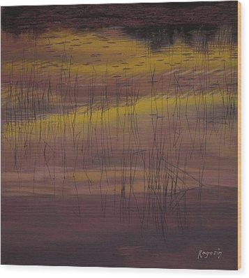 Yellow Marsh Wood Print