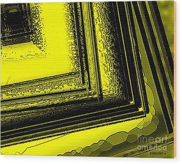 Yellow Over Yellow Art Wood Print by Mario Perez