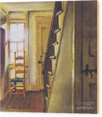 Wood Print featuring the painting Yellow Room by Susan Herbst