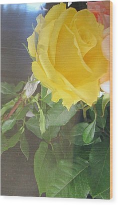 Yellow Rose- Greeting Card Wood Print
