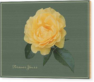 Yellow Rose Of Love Wood Print