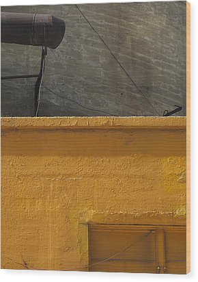 Yellow Storefront Wood Print by Stuart Hicks