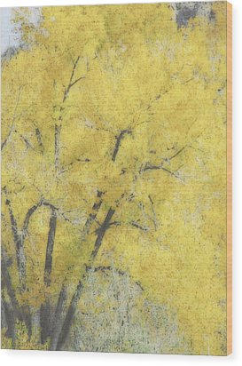 Yellow Trees Wood Print by Ann Powell