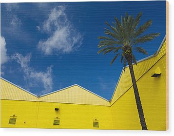 Yellow Warehouse Wood Print