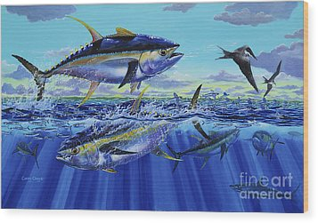 Yellowfin Bust Off0083 Wood Print by Carey Chen