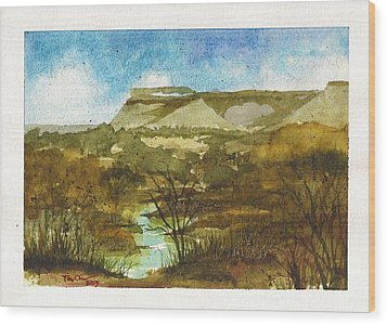 Yellowhouse Canyon Wood Print
