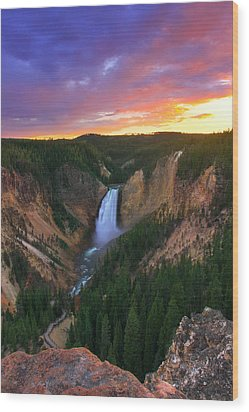 Wood Print featuring the photograph Yellowstone Beauty by Kadek Susanto