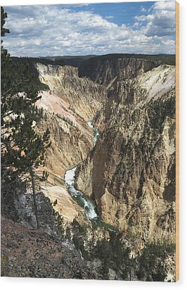 Wood Print featuring the photograph Yellowstone Canyon by Laurel Powell
