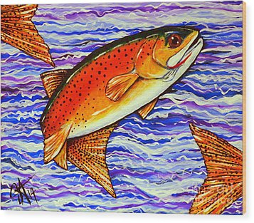 Yellowstone Cutthroat Wood Print by Jackie Carpenter