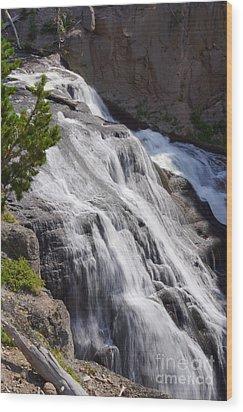 Yellowstone Gibbon Falls Wood Print