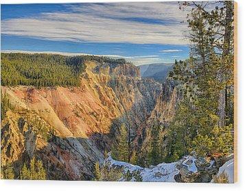 Yellowstone Grand Canyon East View Wood Print