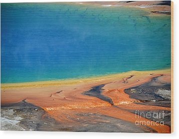 Yellowstone Grand Prismatic Colors Wood Print