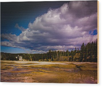 Wood Print featuring the photograph Yellowstone In October by Janis Knight