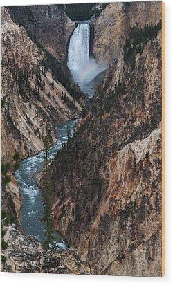 Yellowstone Lower Falls Wood Print by Rob Hemphill