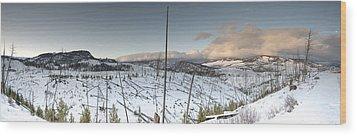 Yellowstone Morning Wood Print