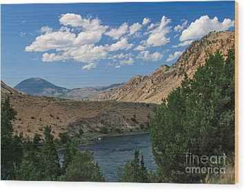Wood Print featuring the photograph Yellowstone River Overlook by Charles Kozierok