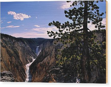 Wood Print featuring the photograph Yellowstone Waterfall by Matt Harang