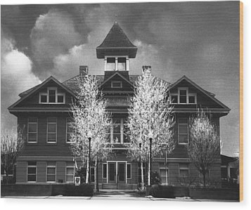 Wood Print featuring the photograph Yerington Grammar School by Jim Snyder