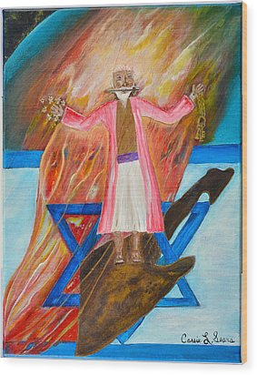 Wood Print featuring the painting Yeshua by Cassie Sears