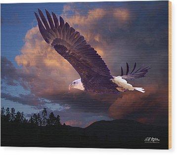 Yeshua Is Calling Wood Print by Bill Stephens