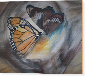 Yesterday's Butterflies Wood Print