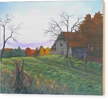 Yesteryear Autumn Wood Print
