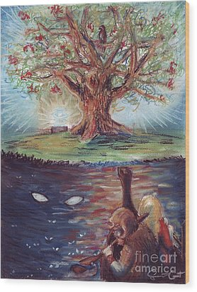 Yggdrasil - The Last Refuge Wood Print