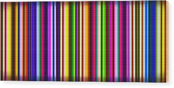 Yikes Stripes Wood Print by Ginny Schmidt