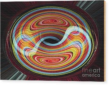 Yin And Yang - Abstract Wood Print