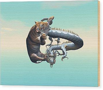 Yin Yang Wood Print by Michele Wilson