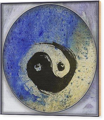 Yin Yang Painting Wood Print