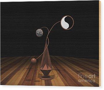 Ying And Yang Wood Print by Peter Piatt